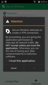 Disconnect VPN Trust